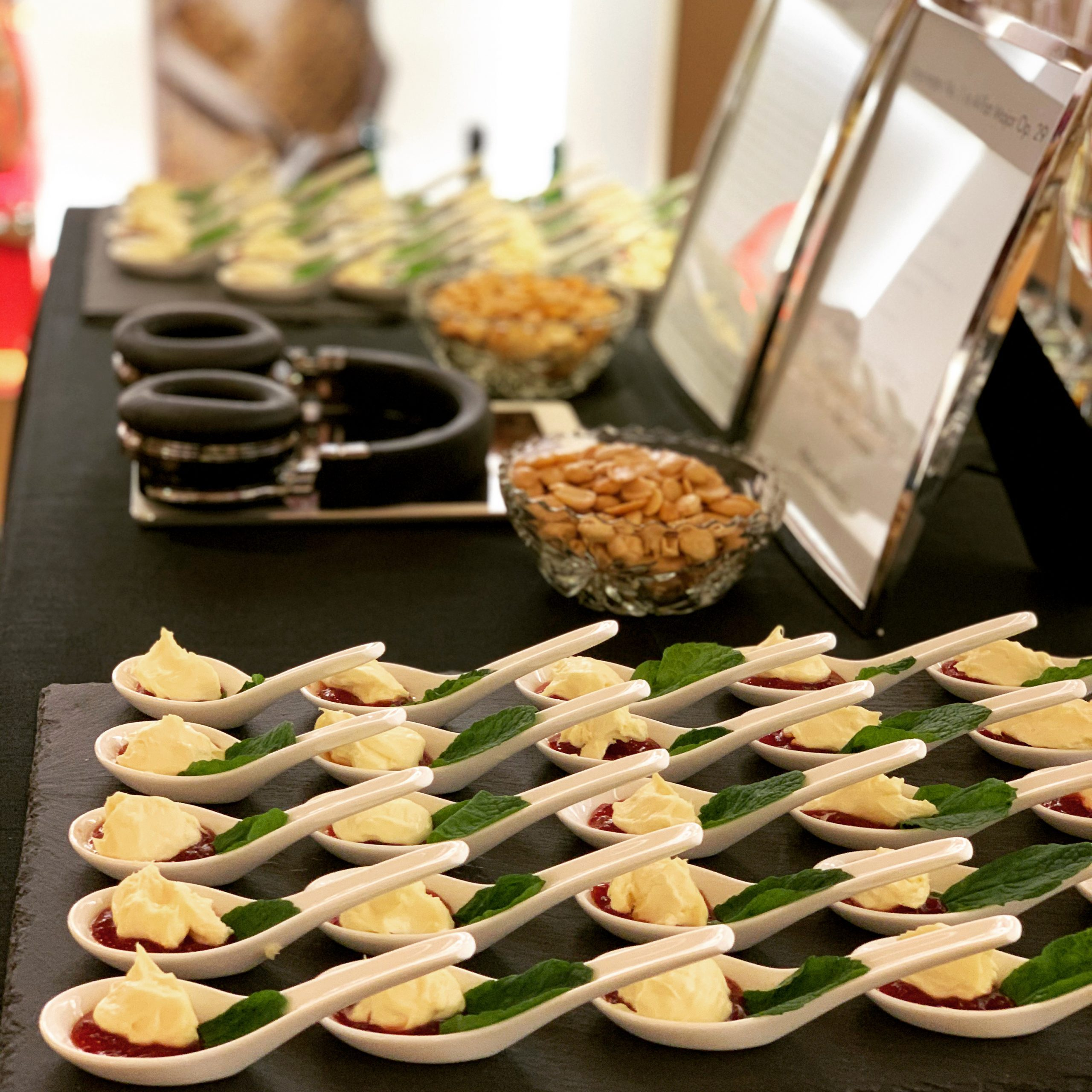 Tasting Tables at Five Senses Tastings are a perfect team-building activity